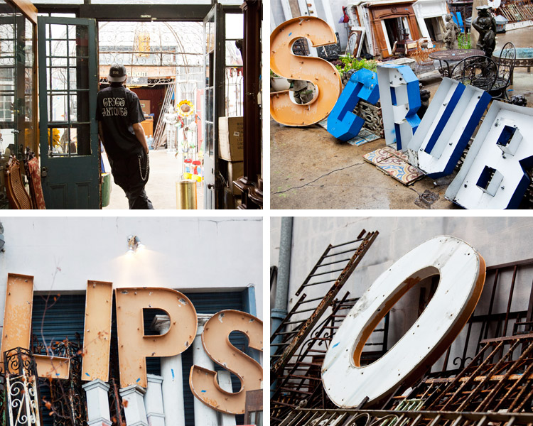 Loose letters, words, signs. Greg's Antiques